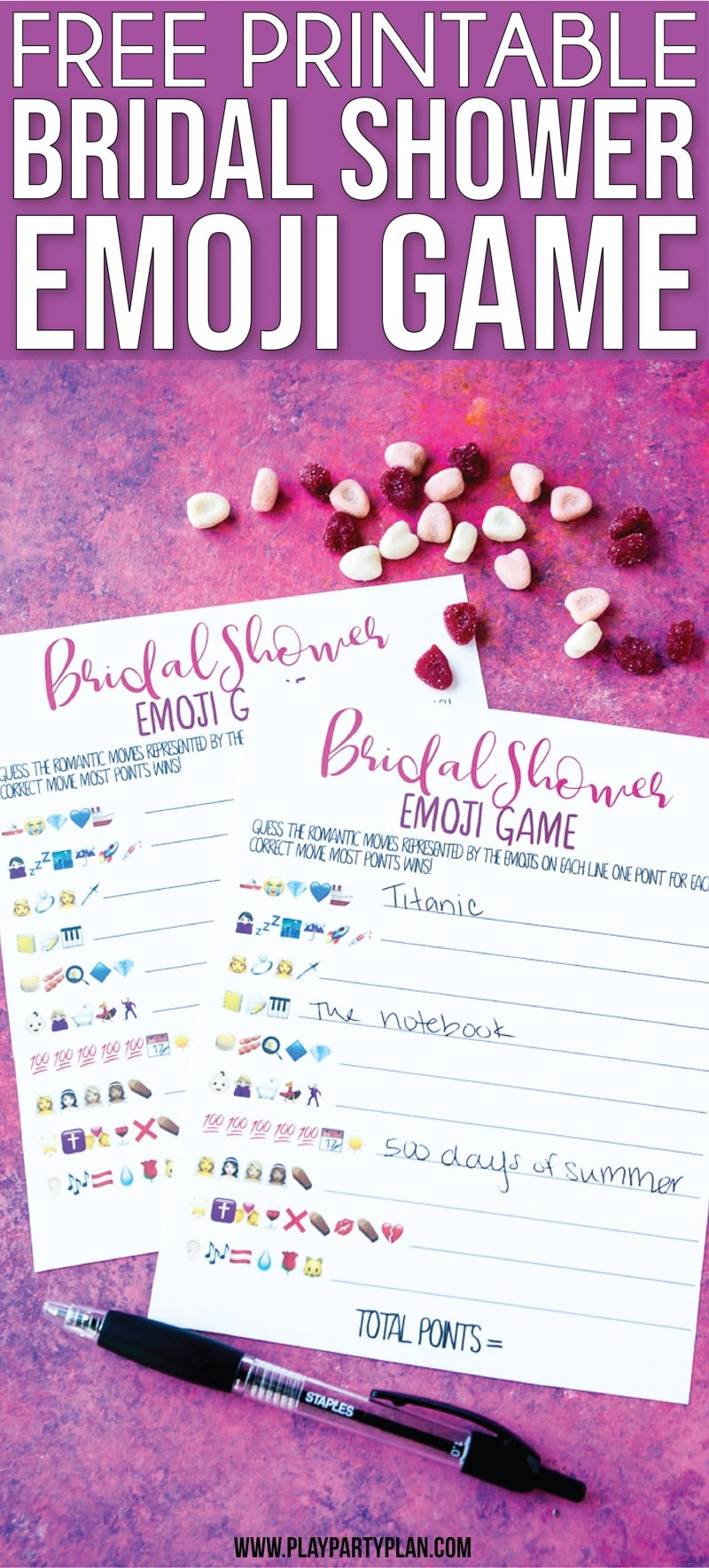 Free Printable Bridal Shower Name The Emoji Game - Free Printable Household Shower Games