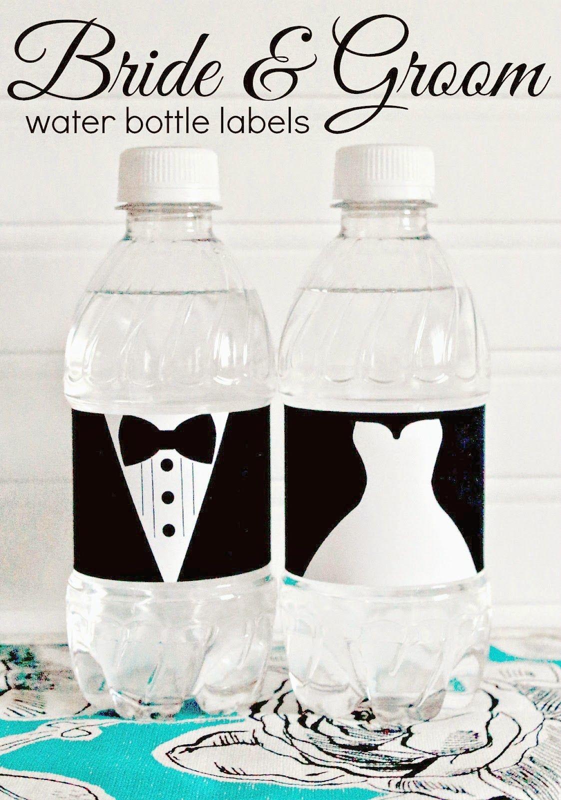 Free Printable - Bride And Groom Water Bottle Labels - Great For - Free Printable Water Bottle Labels Bachelorette