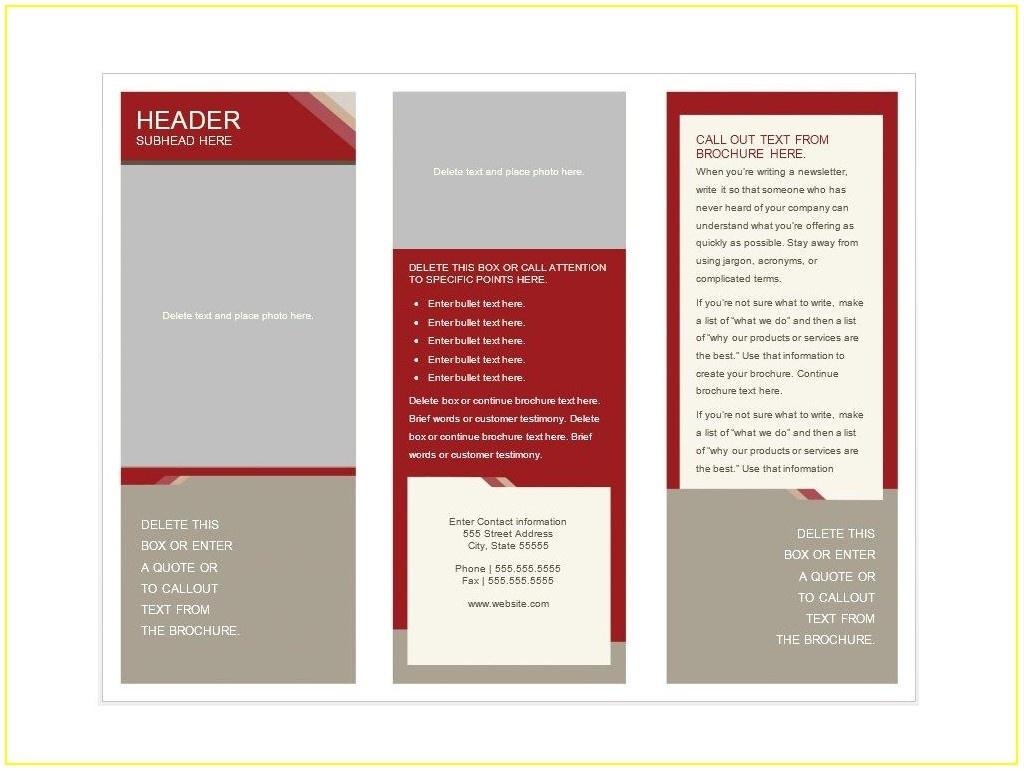 Free Printable Brochure Template - Template : Resume Examples - Free Printable Brochure Templates