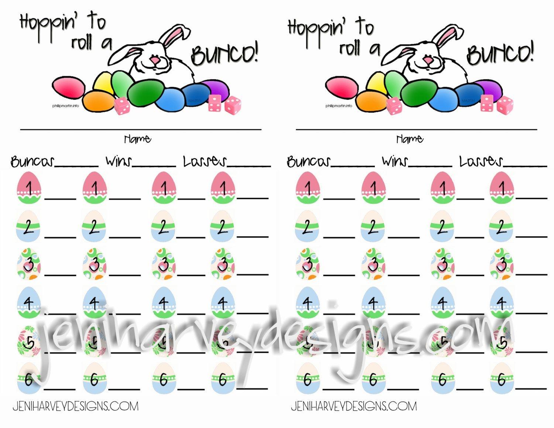 Free Printable Bunco Cards   Bunco!   Bunco Score Sheets, Bunco - Printable Bunco Score Cards Free