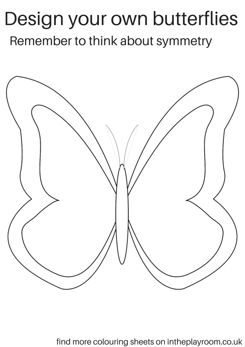 Free Printable Butterfly Colouring Pages | Decor/lighting - Free Printable Butterfly Cutouts