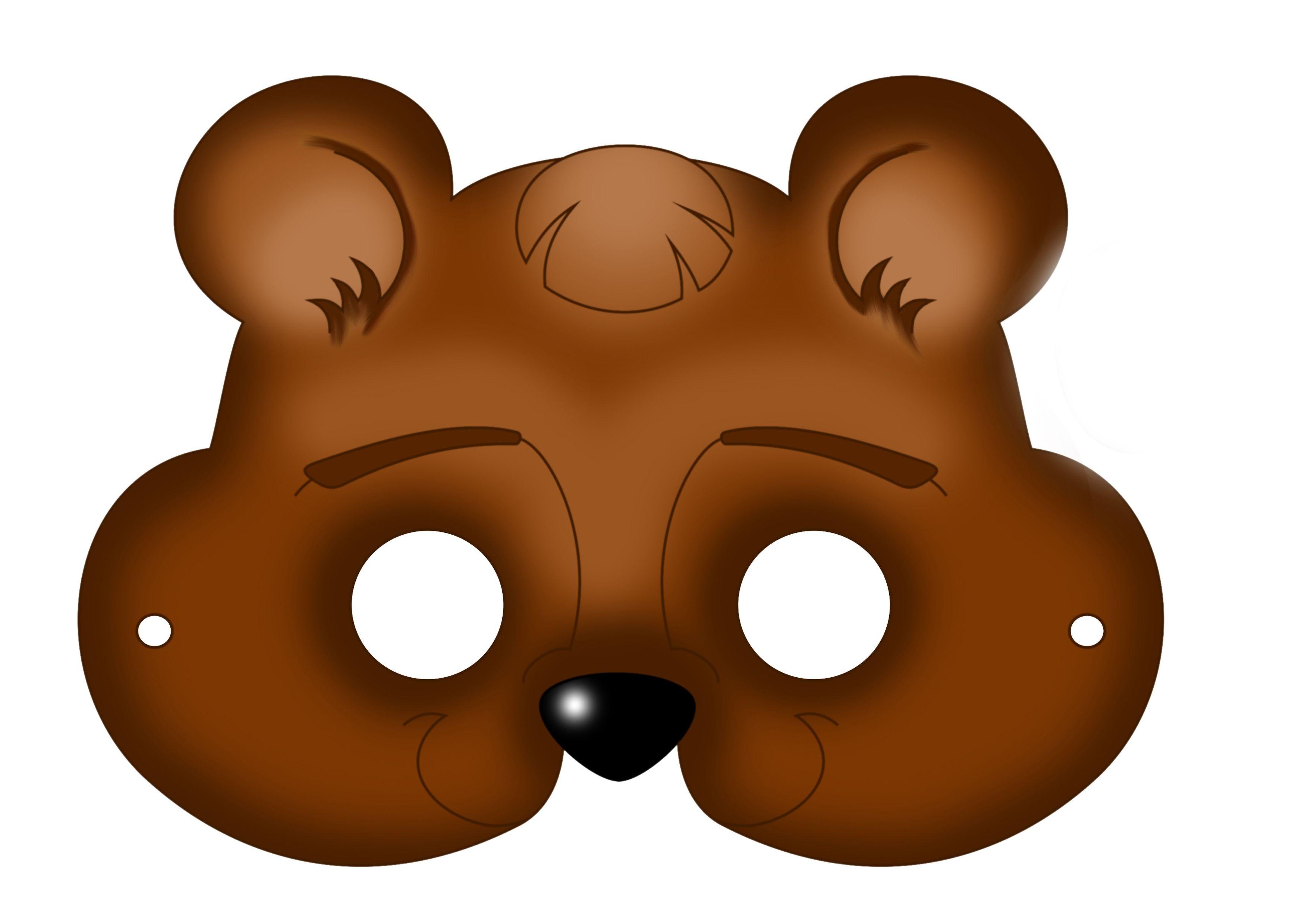 Free Printable Carnival Masks For Kids.   Ideas   Bear Mask, Mask - Free Printable Bear Mask