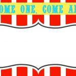Free Printable Carnival Themed Invitations   Paper Crafting   Free Printable Carnival Signs