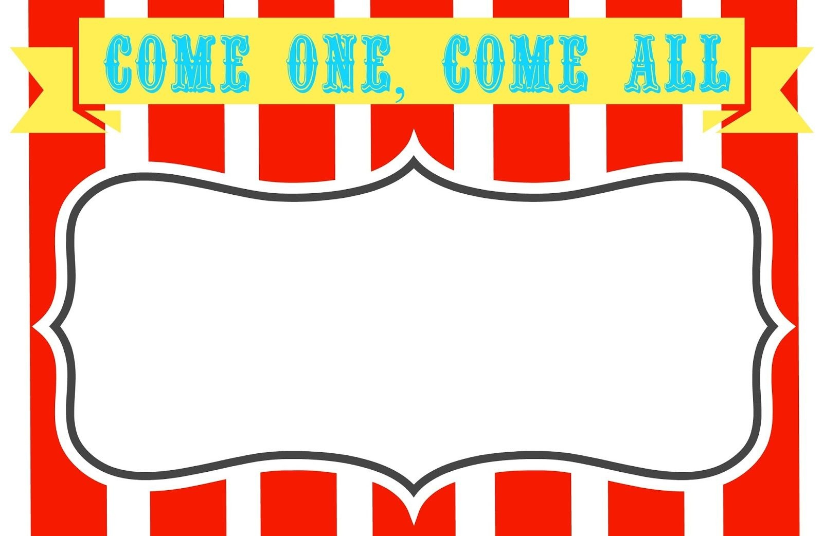 Free Printable Carnival Themed Invitations | Paper Crafting - Free Printable Carnival Signs
