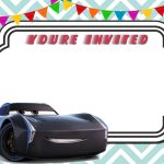 Free Printable Cars 3 Lightning Mcqueen Invitation Template | Free   Free Printable Car Template