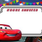 Free Printable Cars 3 Lightning Mcqueen Invitation Template | Go   Free Printable Car Template