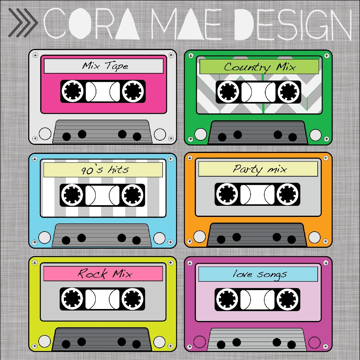 Free Printable Cassette Tape Clipart | Ra Door Decs | Party, 80S Party - Printable 90S Props Free