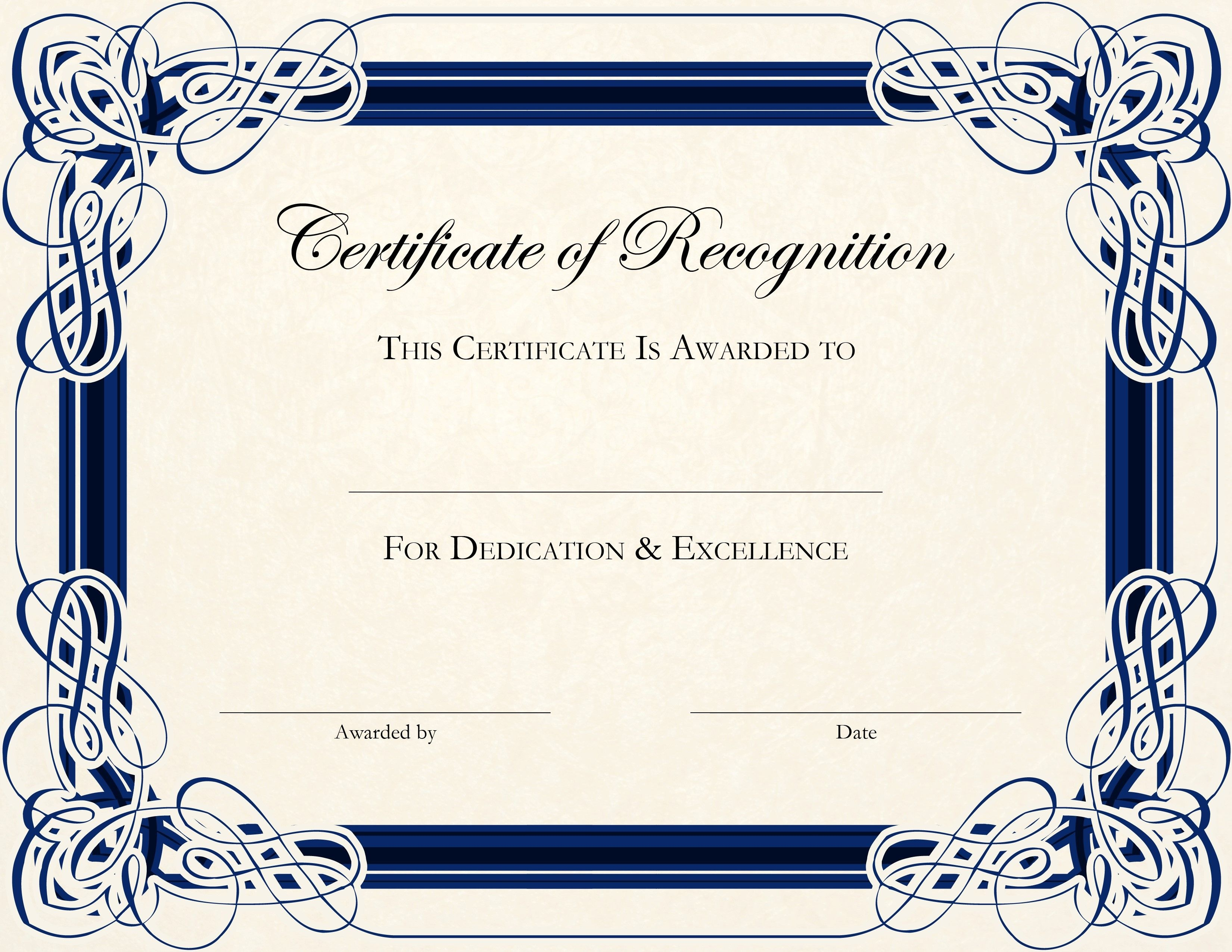 Free Printable Certificate Templates For Teachers   Besttemplate123 - Free Customizable Printable Certificates Of Achievement