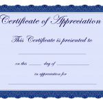 Free Printable Certificates Certificate Of Appreciation Certificate   Free Printable Blank Certificate Templates