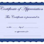 Free Printable Certificates Certificate Of Appreciation Certificate   Free Printable Certificates