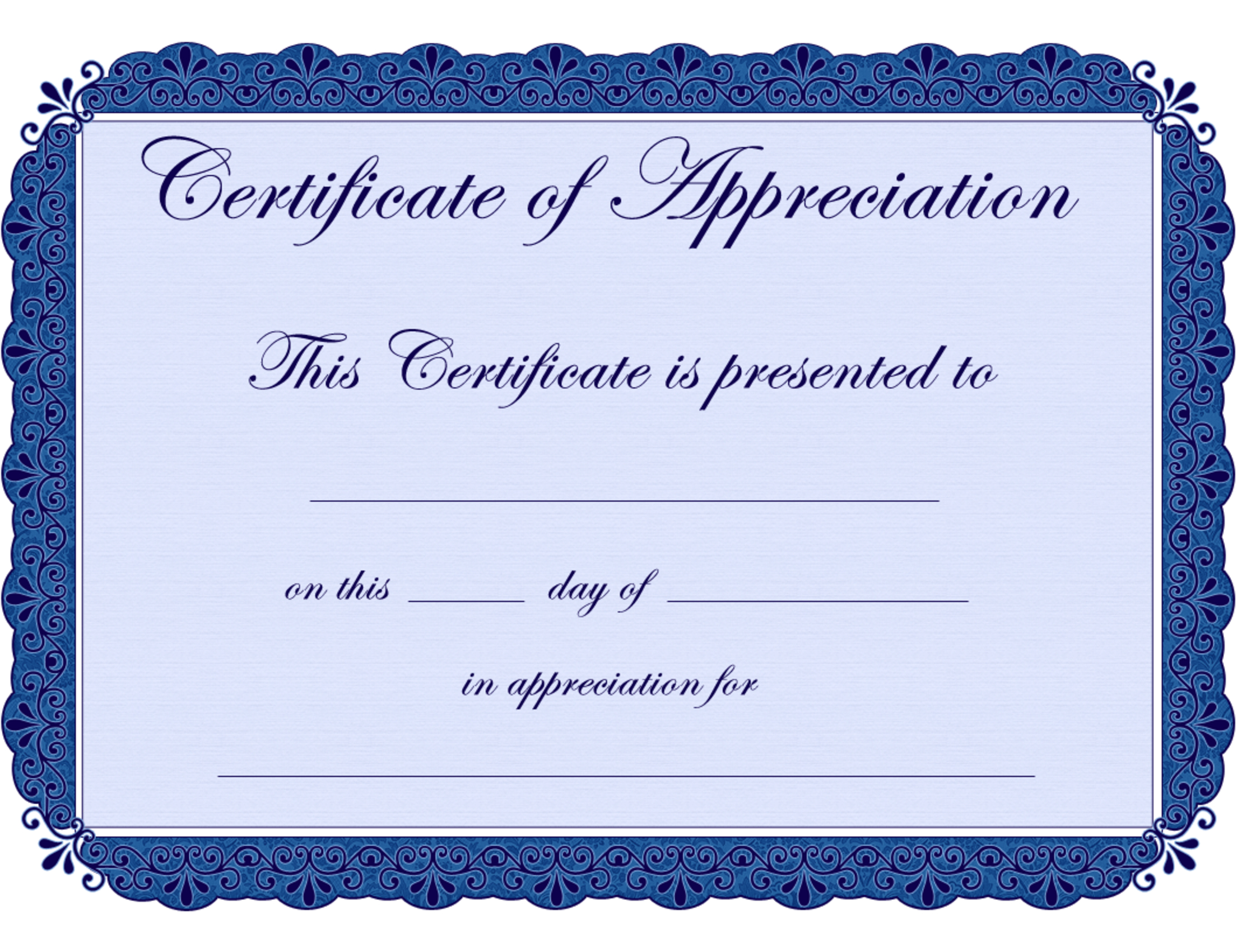 Free Printable Certificates Certificate Of Appreciation Certificate - Free Printable Certificates