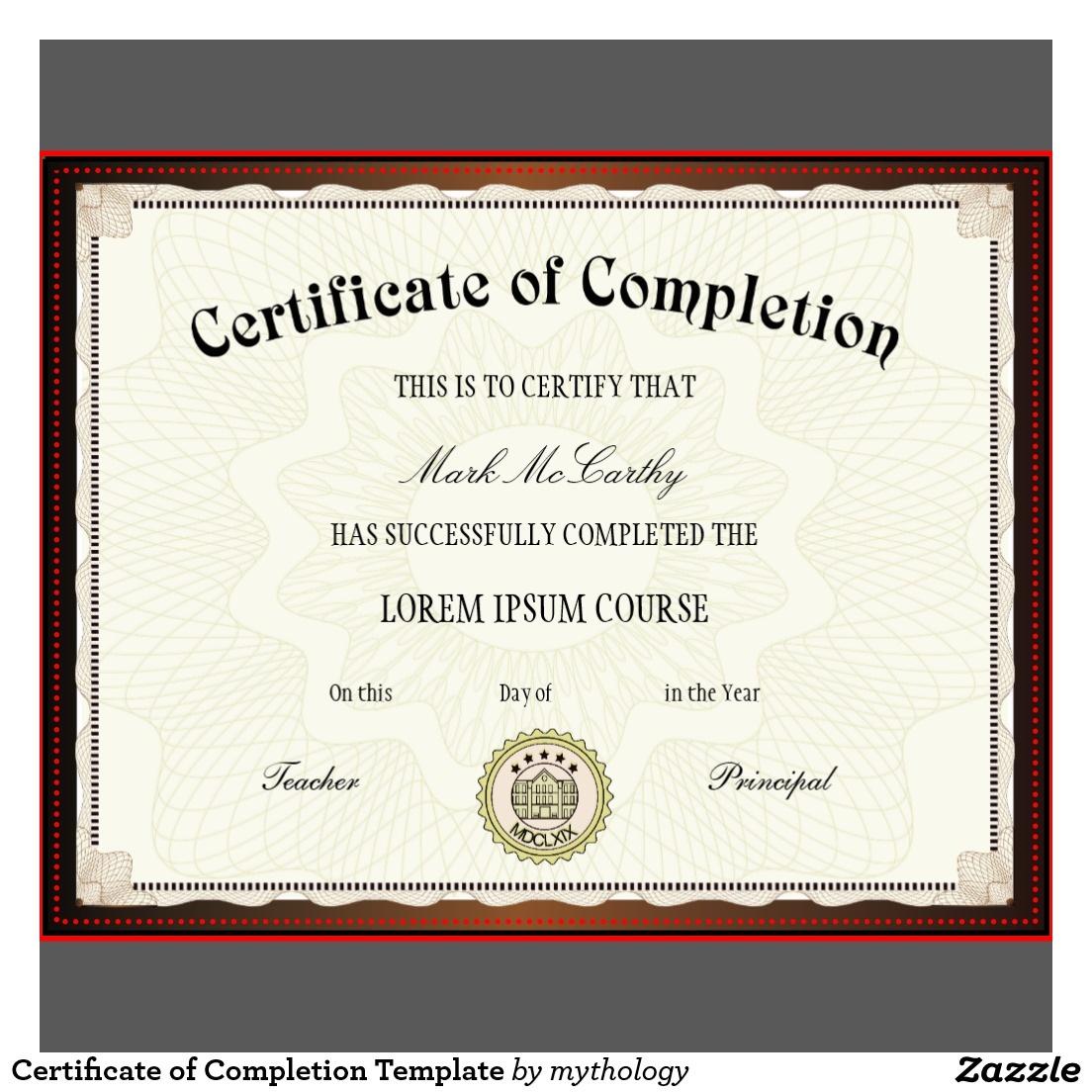 Free Printable Certificates | Certificate Templates - Certificate Of Completion Template Free Printable