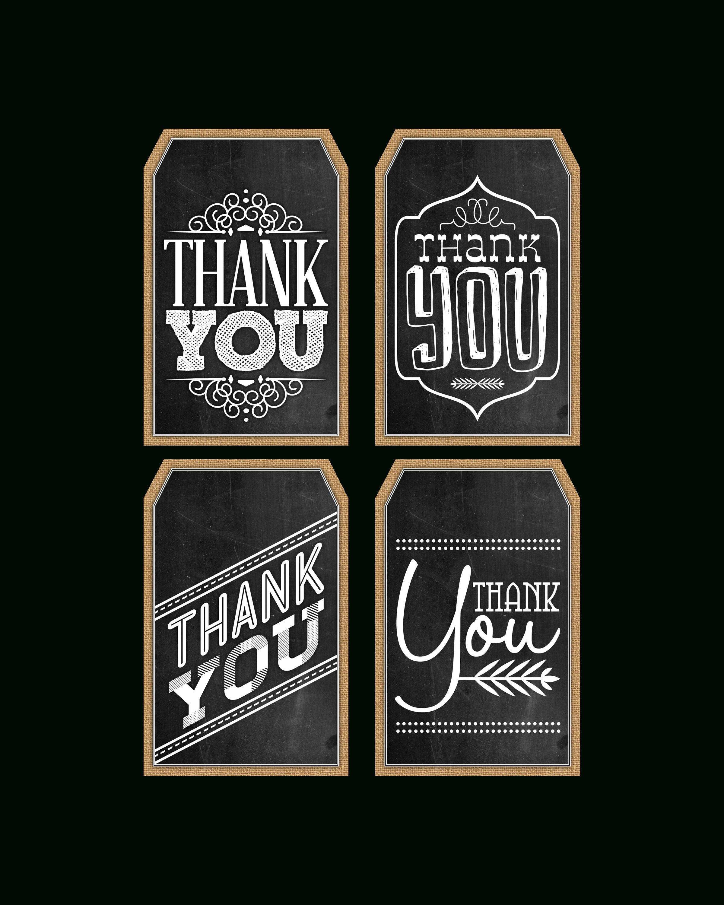Free Printable Chalkboard Thank You Tags | The Cottage Market - Free Printable Thank You Tags