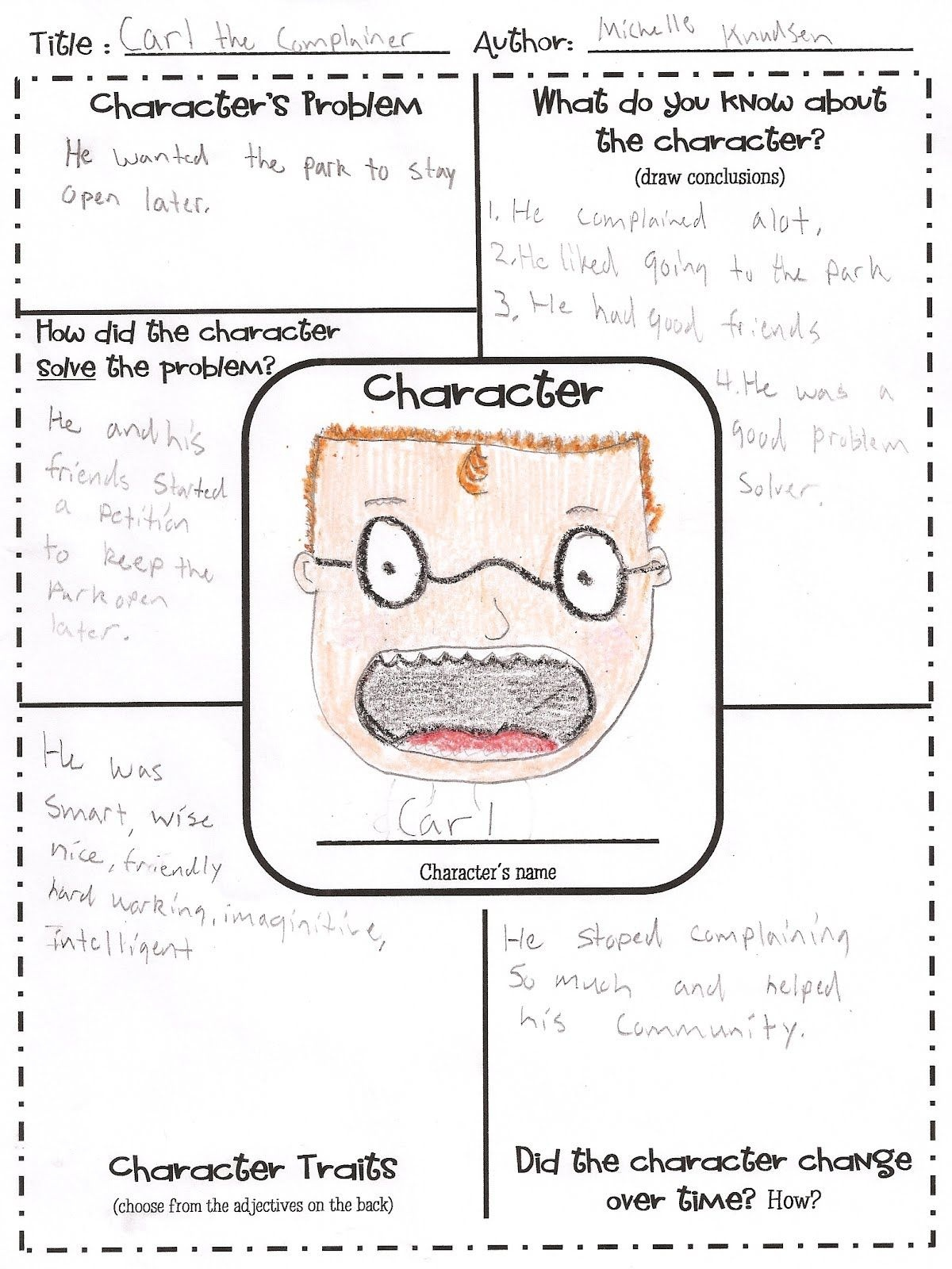 Free Printable Character Map | Intermediate Grade Reading | Teaching - Free Printable Character Map