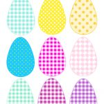 Free Printable Cheerfully Colored Easter Eggs   Ausdruckbare   Free Printable Easter Images