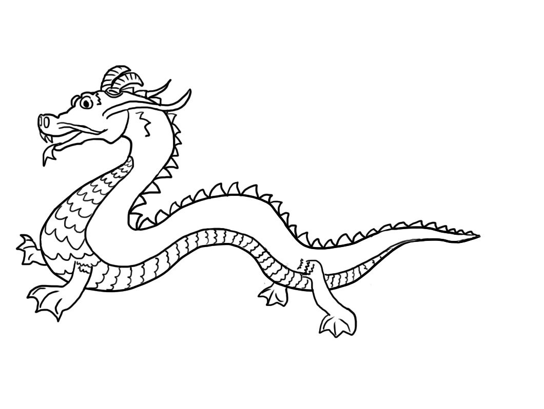 Free Printable Chinese Dragon Coloring Pages For Child #1488 Chinese - Free Printable Chinese Dragon Coloring Pages