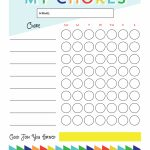 Free Printable   Chore Chart For Kids | Ogt Blogger Friends | Chore   Free Printable Toddler Chore Chart