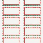 Free Printable Christmas Address Labels – Happy Holidays! – Free   Free Printable Christmas Return Address Label Template