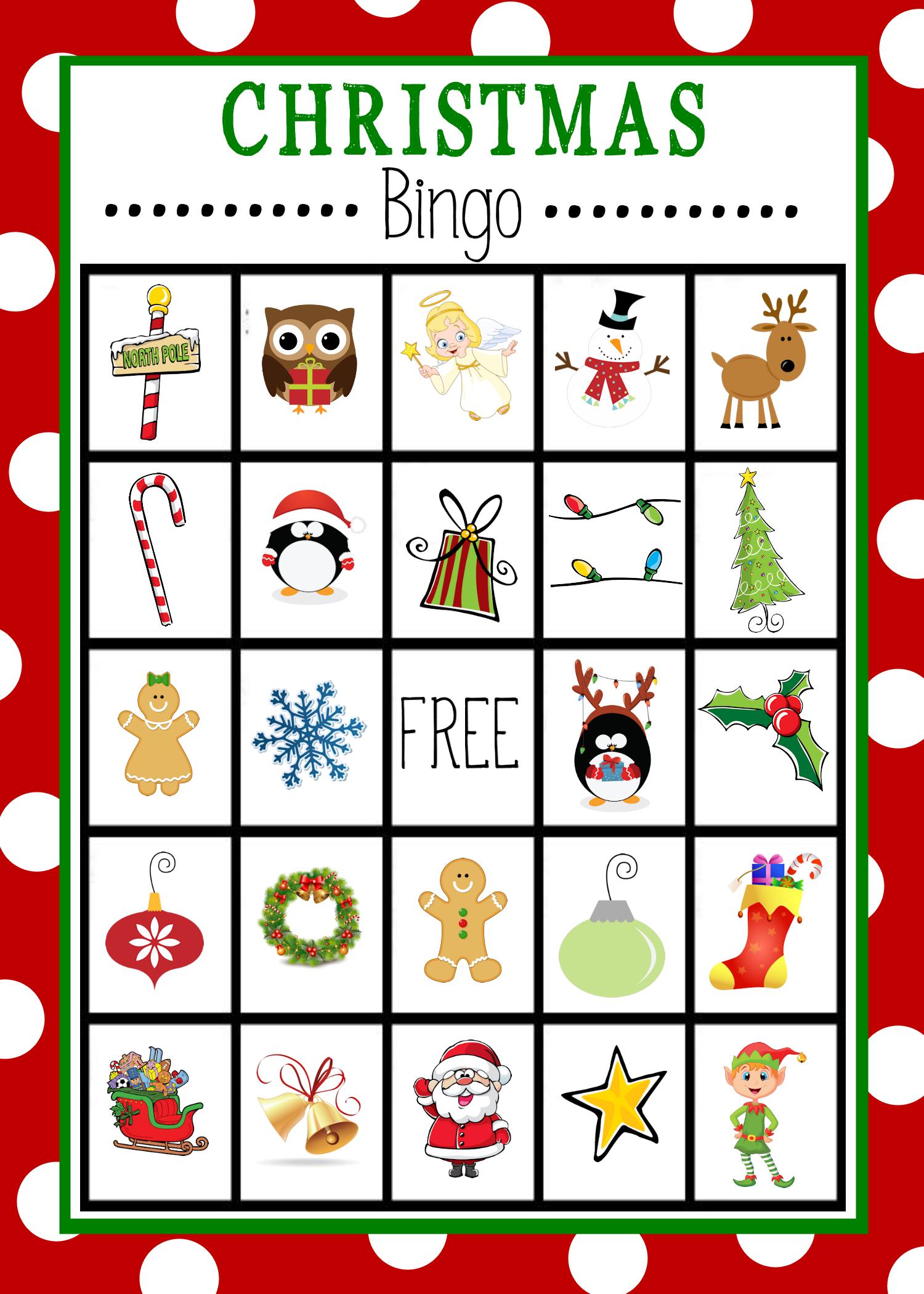 Free Printable Christmas Bingo Game | Christmas | Christmas Bingo - Christmas Bingo Game Printable Free