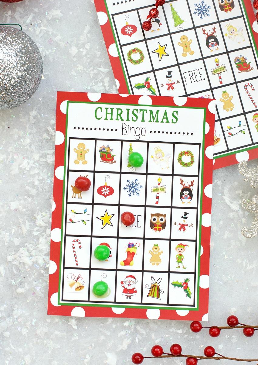 Free Printable Christmas Bingo Game – Fun-Squared - Free Christmas Bingo Game Printable