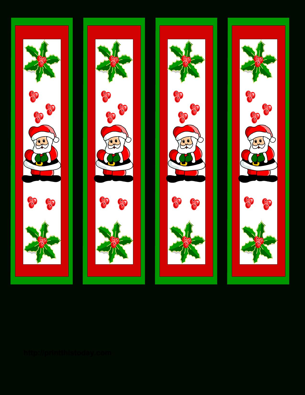 Free Printable Christmas Bookmarks | Christmas | Free Christmas - Free Printable Bookmarks For Christmas