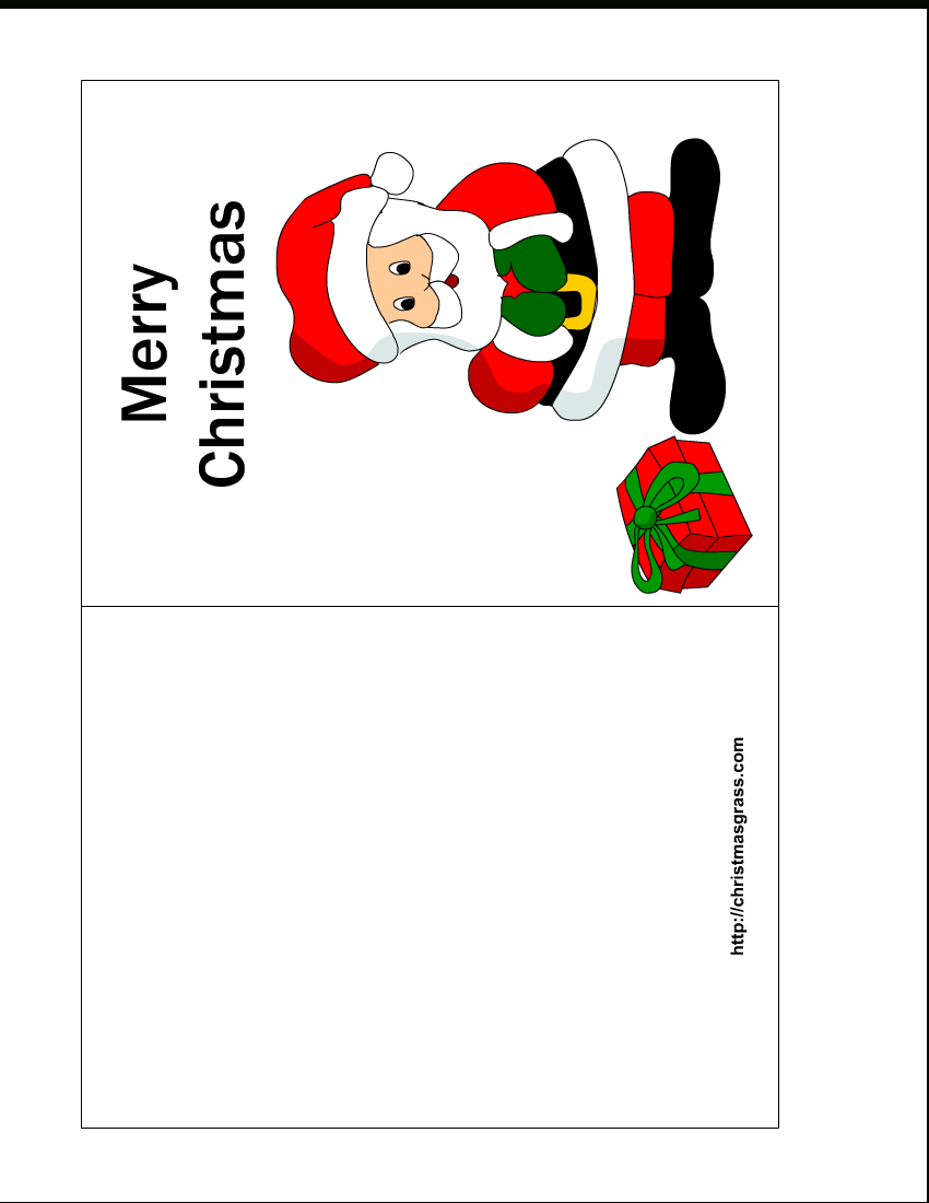 Free Printable Christmas Cards   Free Printable Christmas Card With - Free Printable Place Card Templates Christmas