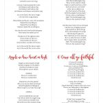 Free Printable Christmas Carols Booklet – Festival Collections   Free Printable Christmas Carols Booklet