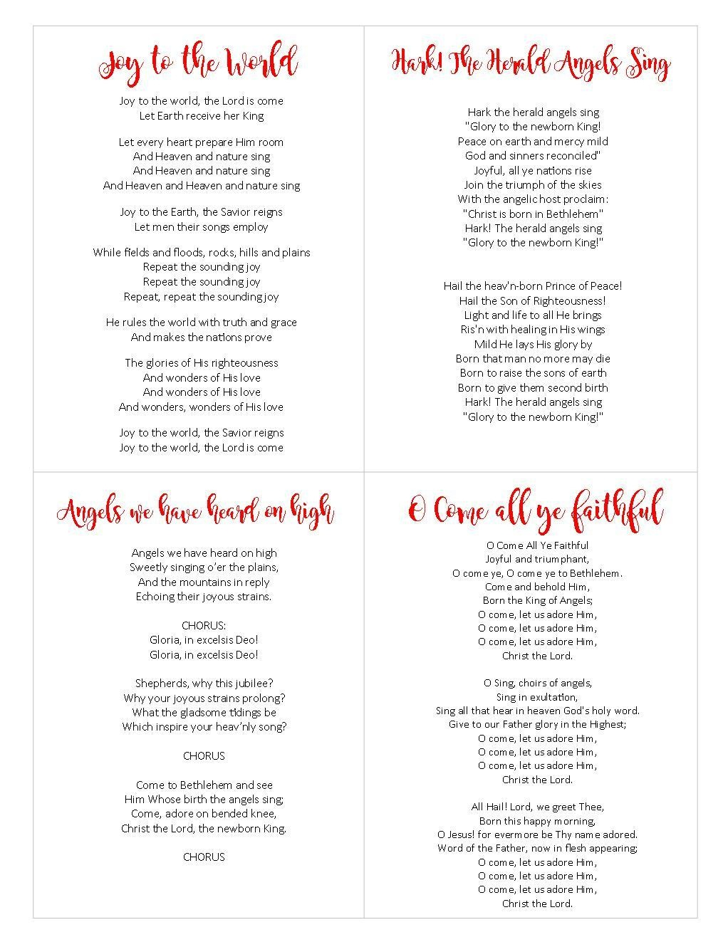 Free Printable Christmas Carols Booklet – Festival Collections - Free Printable Christmas Carols Booklet