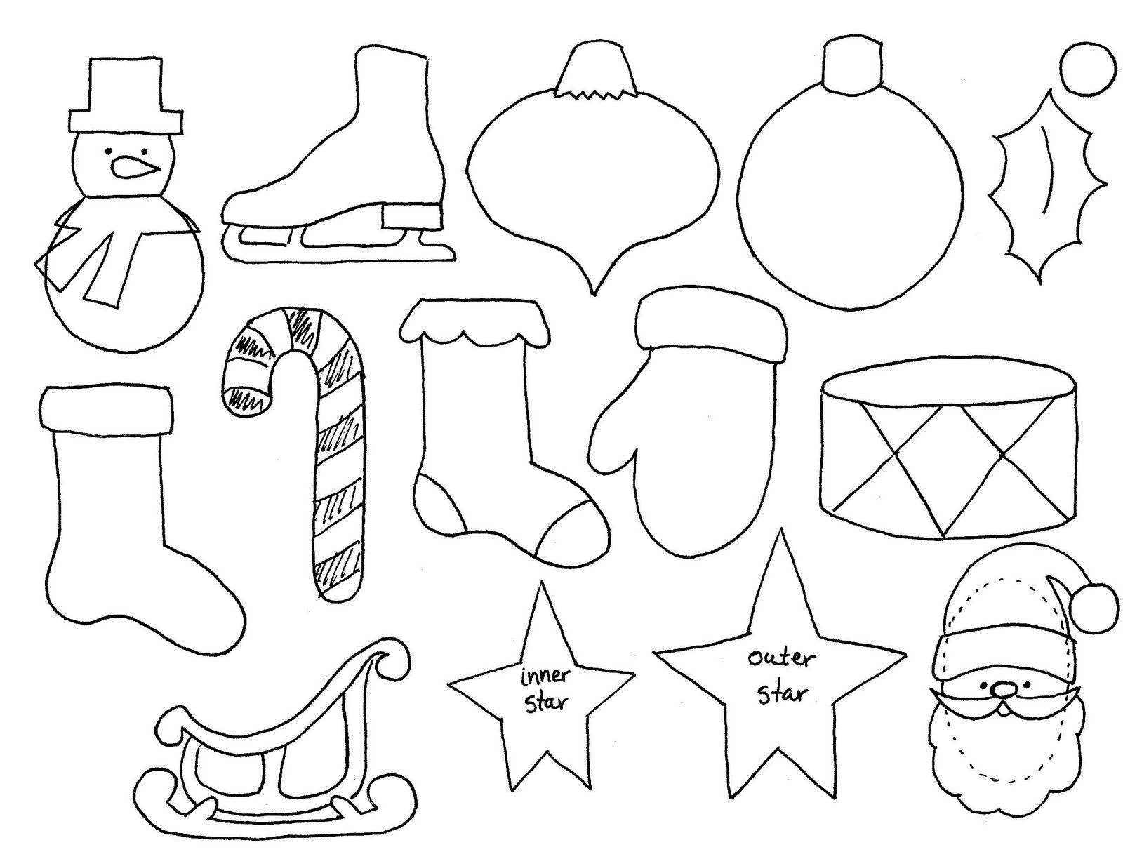 Free Printable Christmas Decoration Templates   Natal   Christmas - Free Printable Christmas Ornament Patterns