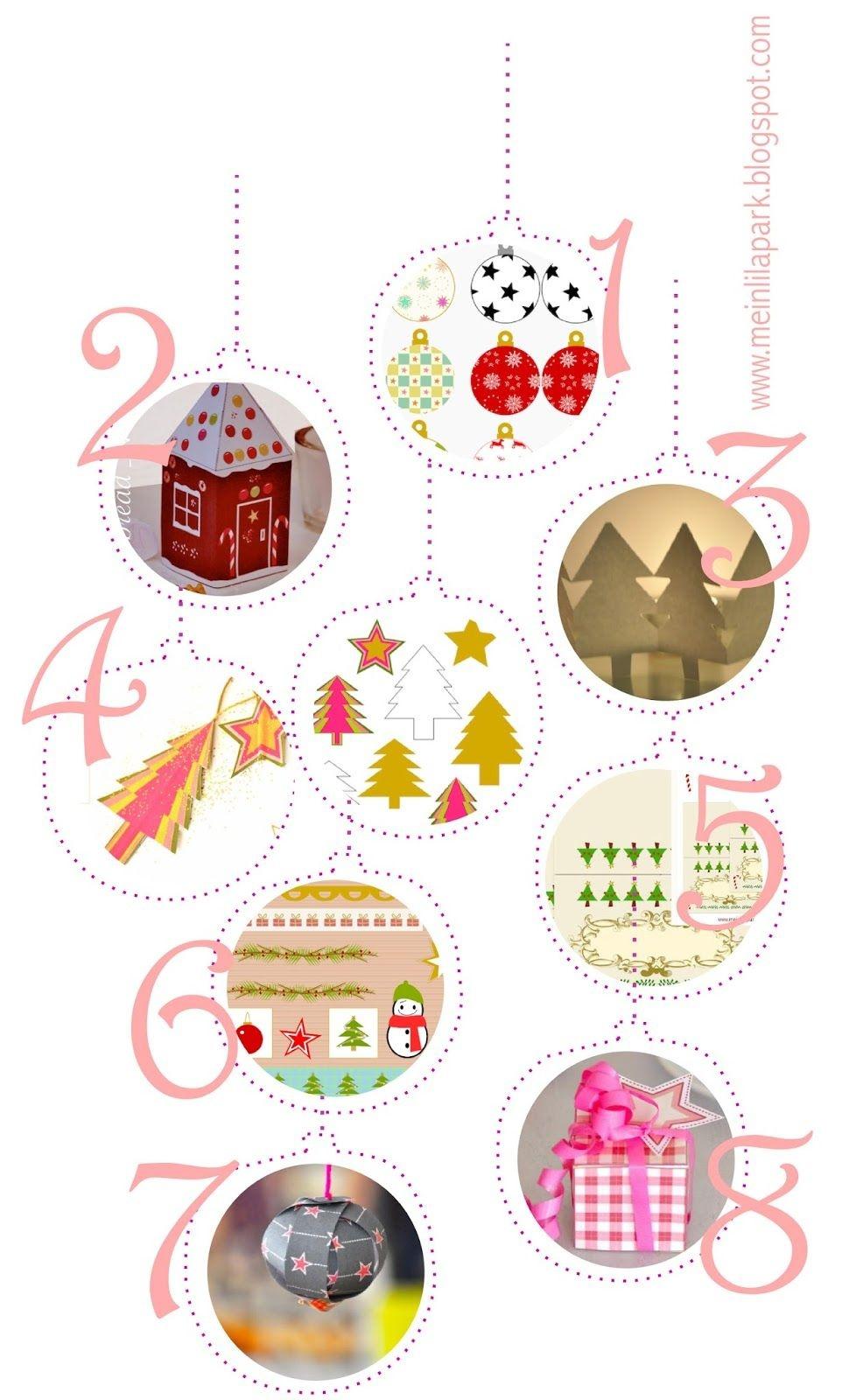 Free Printable Christmas Decorations - Ausdruckbare - Free Printable Christmas Ornaments