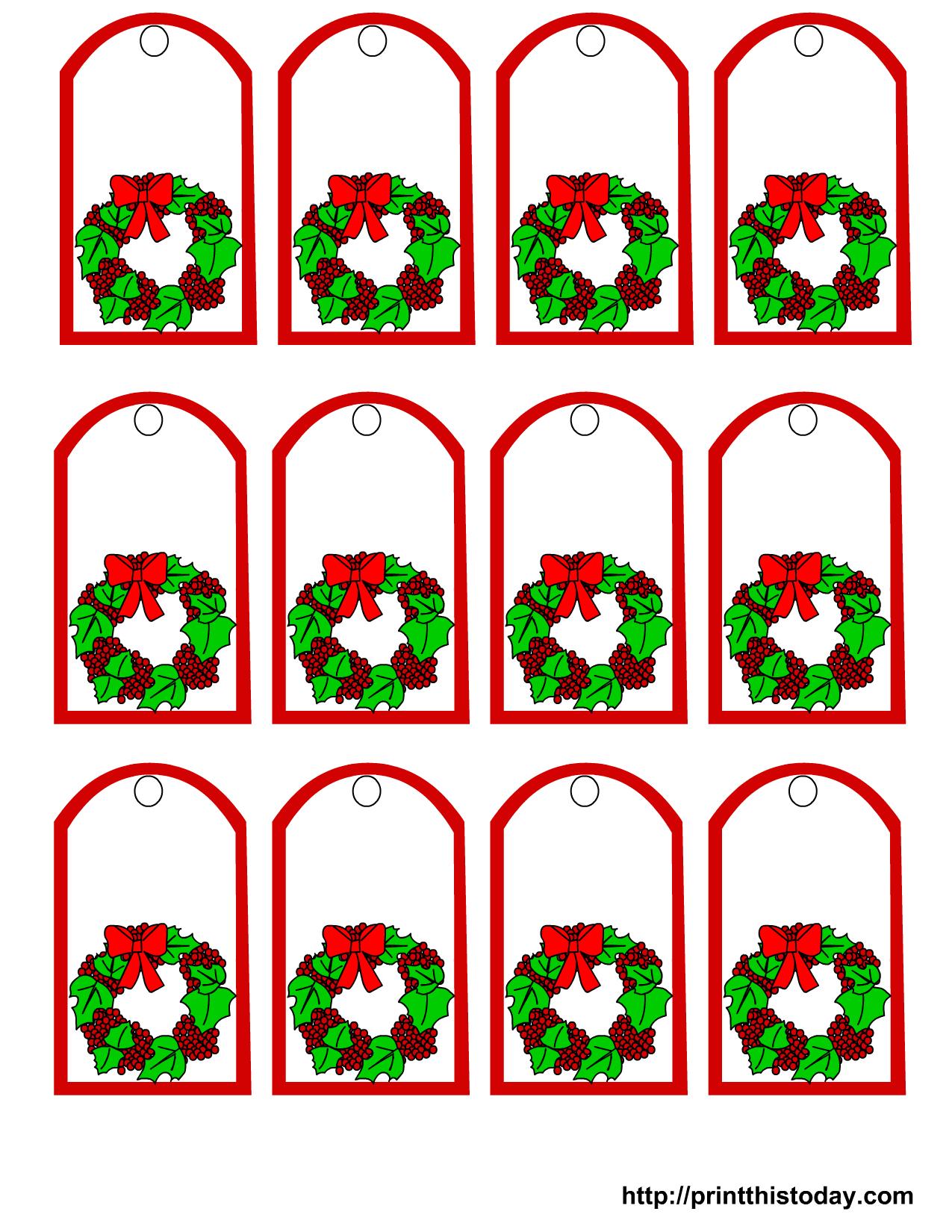 Free Printable Christmas Gift Tags - Free Printable Mistletoe Tags