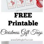 Free Printable Christmas Gift Tags   Setting For Four   Diy Christmas Gift Tags Free Printable