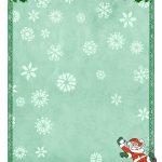 Free Printable Christmas Paper Templates   Free Printable Santa Paper