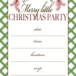 Free Printable Christmas Party Invitation | Crafts | Christmas Party   Christmas Party Invitation Templates Free Printable