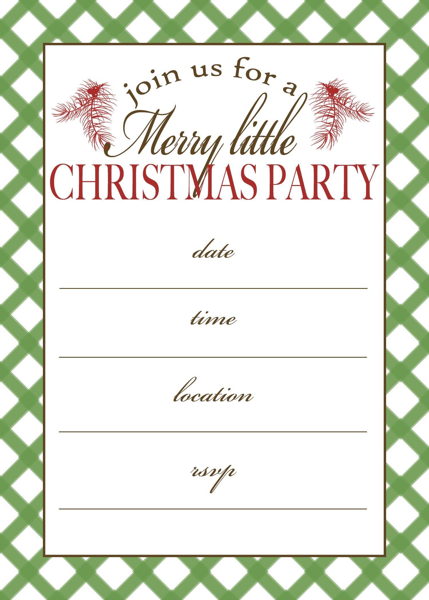 Free Printable Christmas Party Invitation | Crafts | Christmas Party - Christmas Party Invitation Templates Free Printable