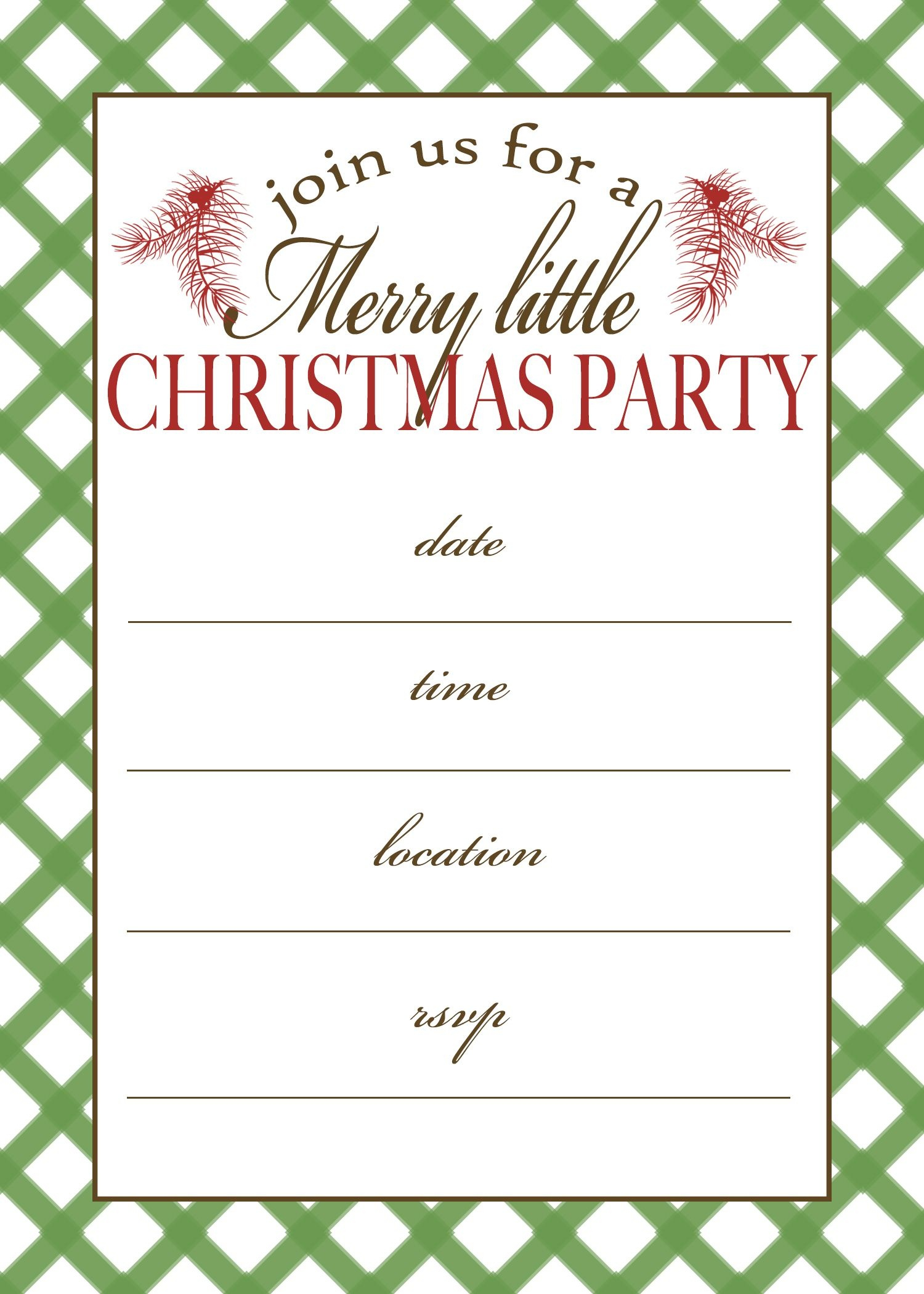 Free Printable Christmas Party Invitation | Crafts | Christmas Party - Free Printable Christmas Party Flyer Templates
