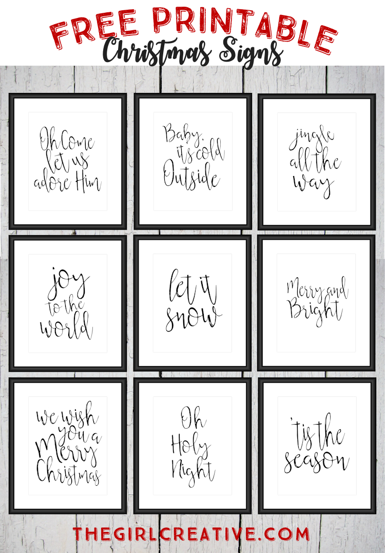 Free Printable Christmas Signs | The Top Pinned | Free Christmas - Free Printable Christmas Art