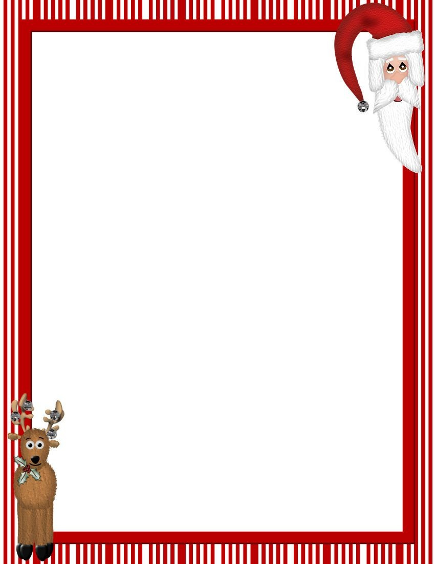 Free Printable Christmas Stationary Borders | Christmasstationery - Free Printable Christmas Paper With Borders