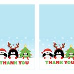 Free Printable Christmas Thank You Cards   Printable Cards   Free Printable Happy Holidays Greeting Cards