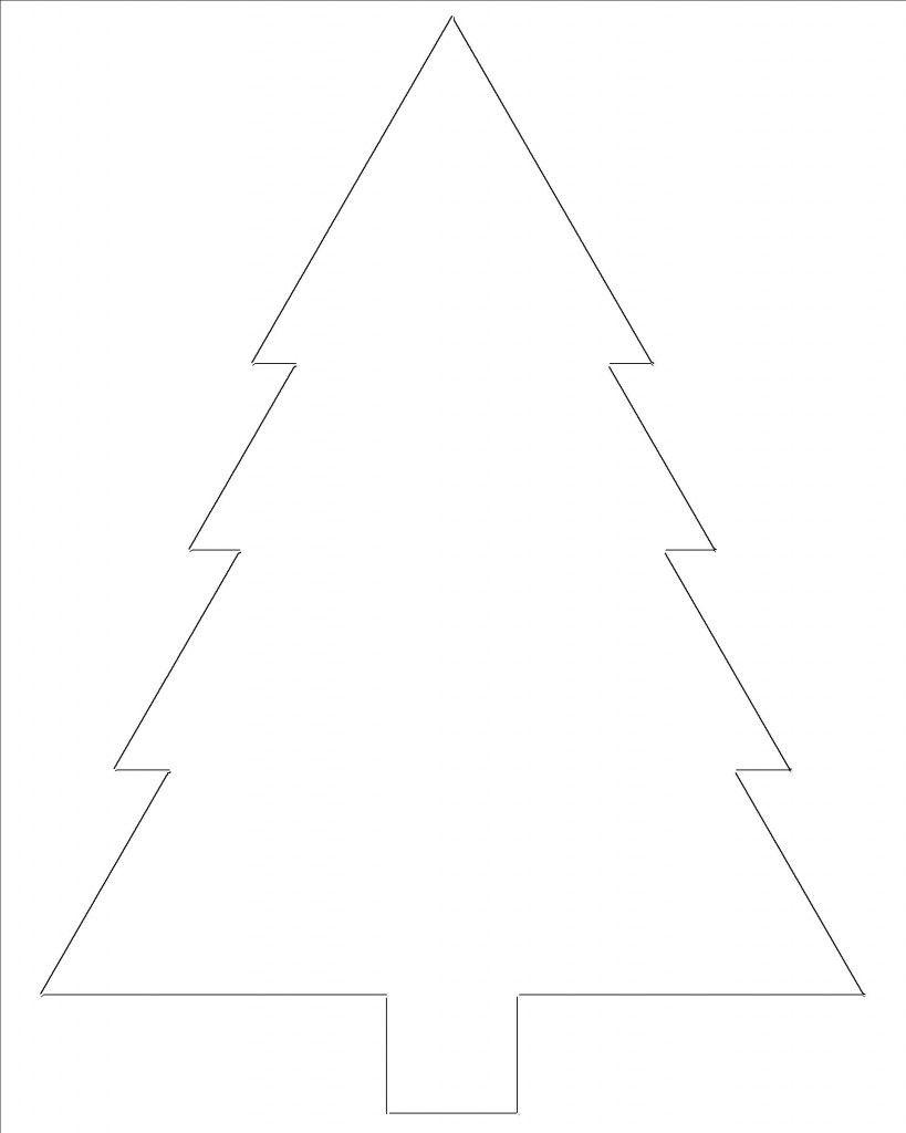Free Printable Christmas Tree Templates | Coloring Pages For Me - Free Printable Christmas Tree Template