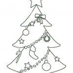 Free Printable Christmas Tree Templates | Free Printable Coloring   Free Printable Christmas Tree Template