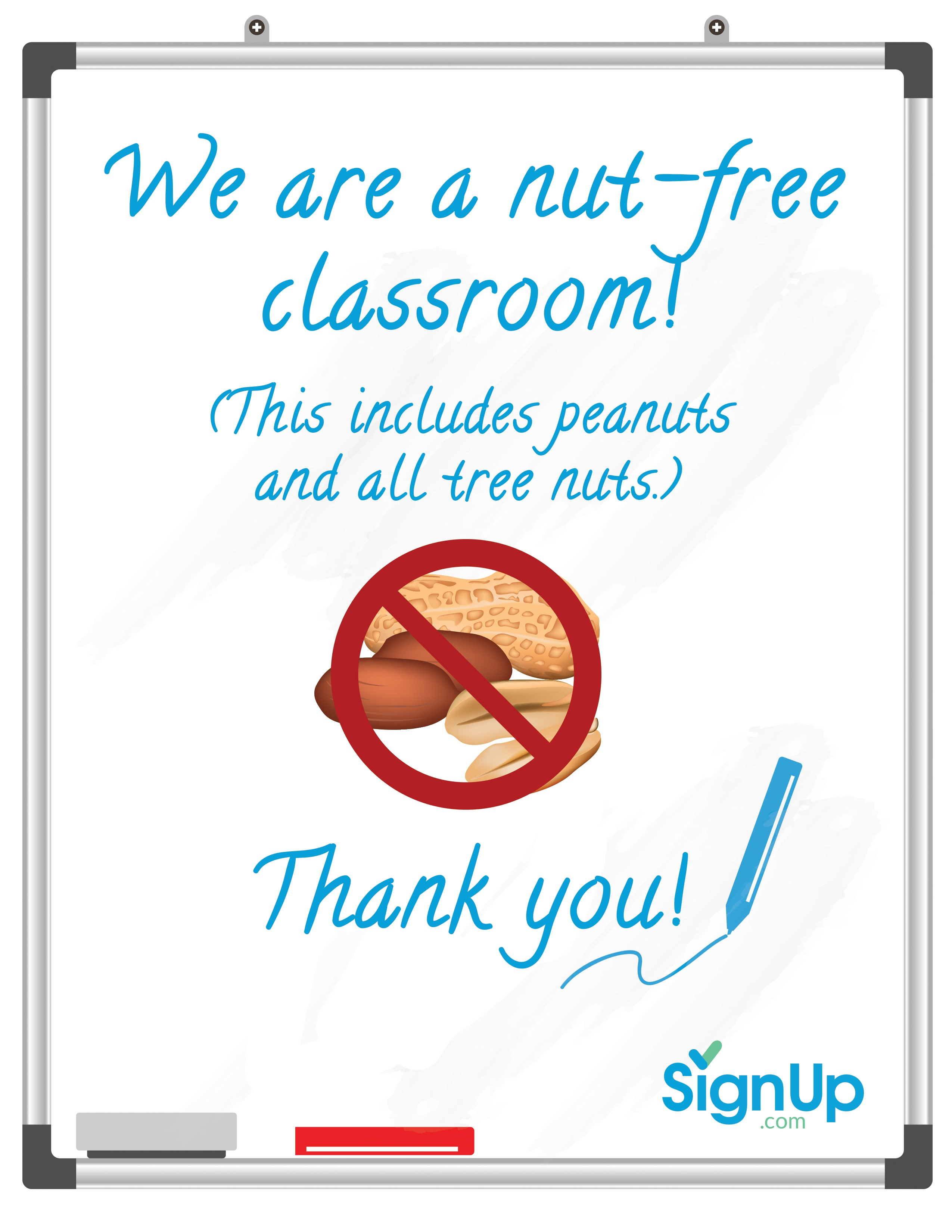 Free Printable Classroom Signs | Signup - Printable Nut Free Signs