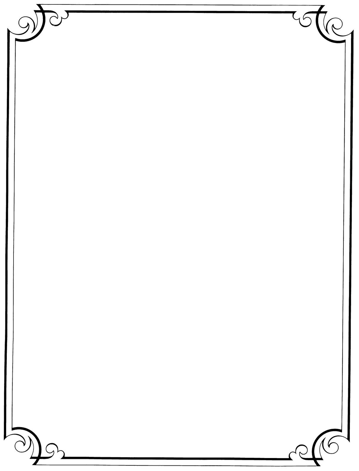Free Printable Clip Art Borders    : Free Vintage Clip Art - Free Printable Stationary Borders