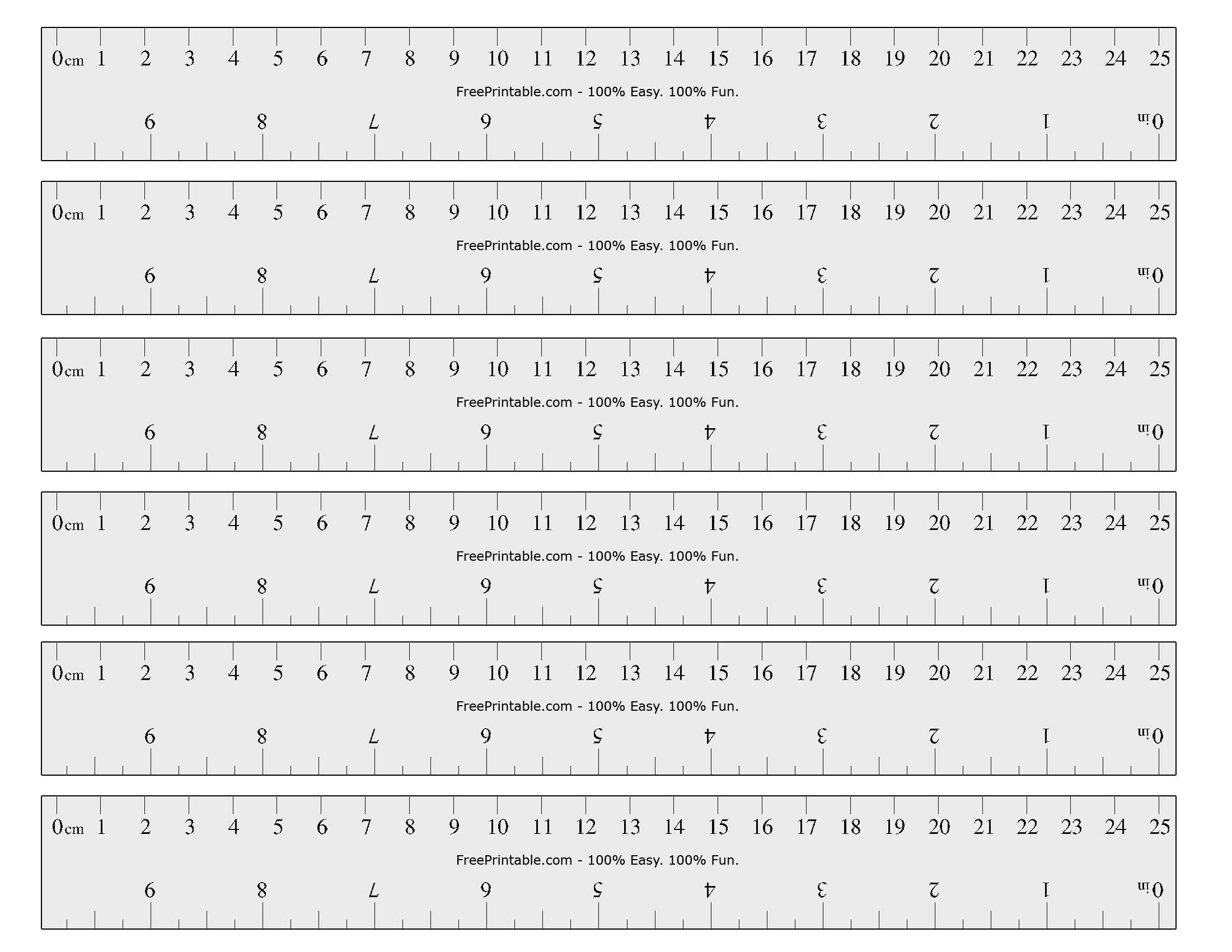 Free Printable Cm/inch Ruler   Math Mania!!   Printable Ruler, Free - Free Printable Ruler