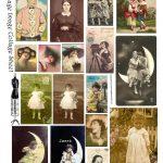Free Printable Collage Sheets |  Free Vintage Digital Stamps   Free Printable Picture Collage