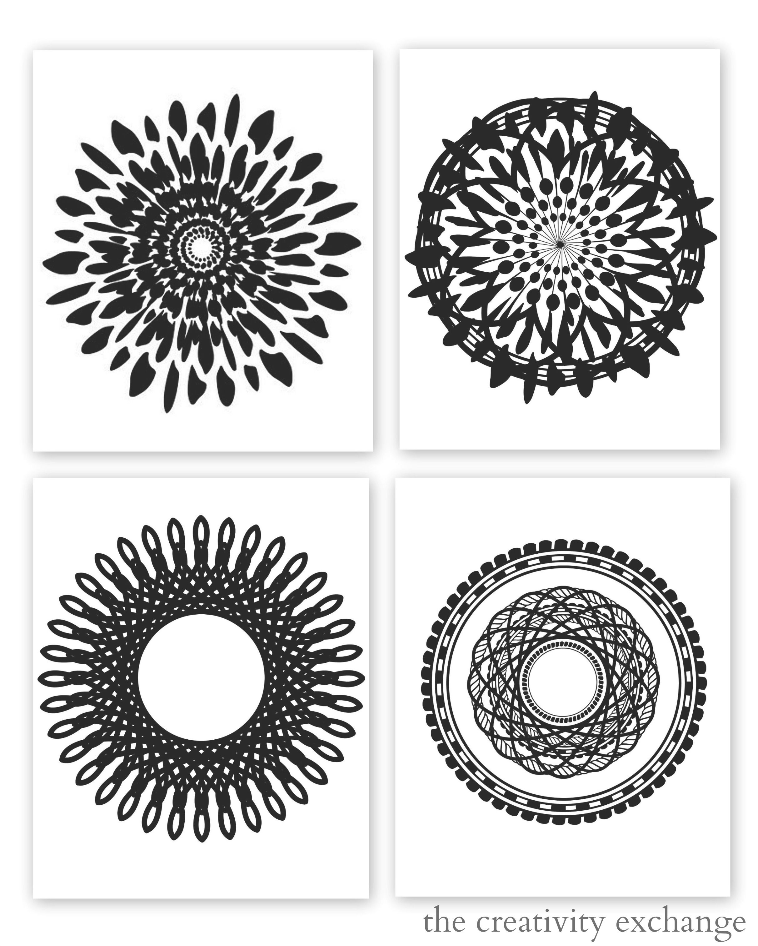 Free Printable Collection Of Modern Black And White Prints   For The - Free Printable Artwork To Frame