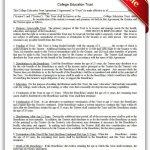 Free Printable College Education Trust | Sample Printable Legal   Free Printable College Degrees