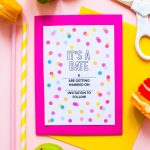 Free Printable Confetti Save The Dates Download Fun Colourful   Free Printable Save The Date