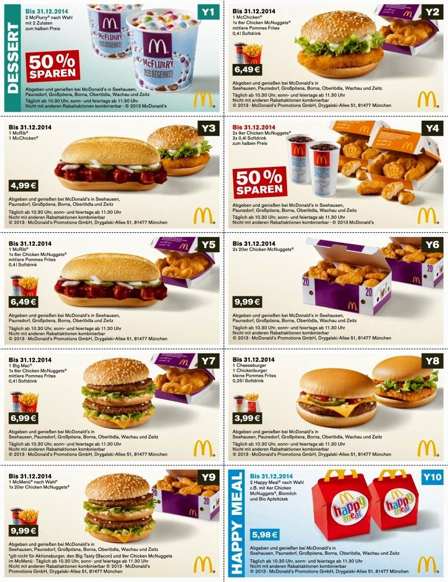 Free Printable Coupons: Mcdonalds Coupons   Fast Food Coupons - Free Printable Coupons For Food