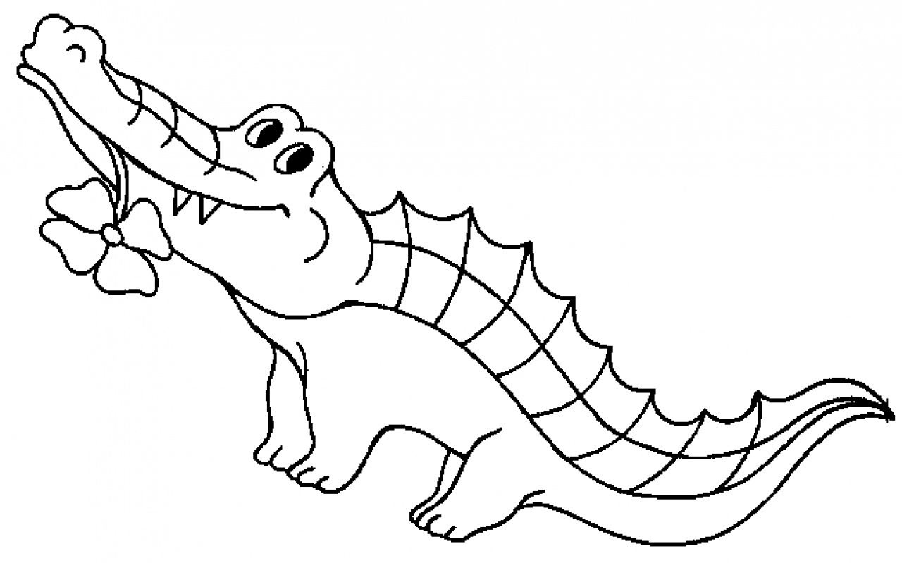 Free Printable Crocodile Coloring Pages For Kids - Free Printable Pictures Of Crocodiles